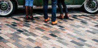 Работа с тротуарной плиткой